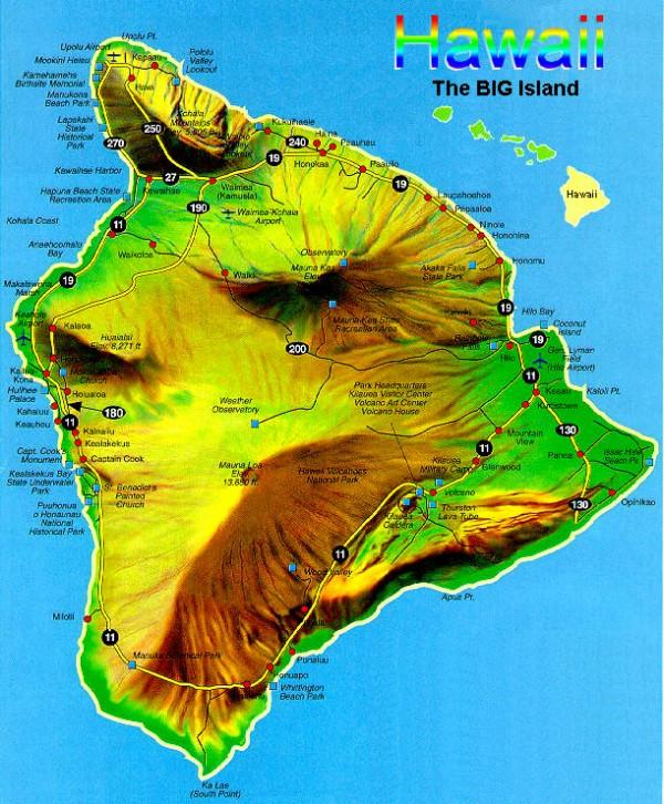 Hawaii Island Maps  Lava Rock Realty