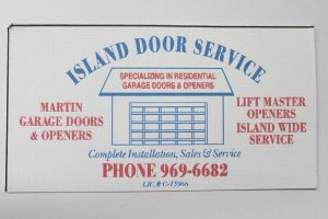 Business Card For Island Door Service